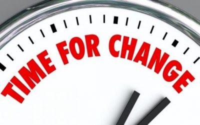 Il momento è adesso: è tempo di cambiare